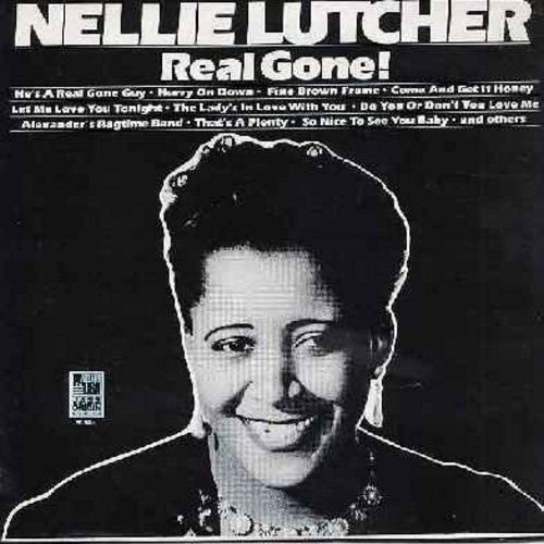 Lutcher, Nellie - Real Gone!: He's A Real Gone Guy, Hurry On Down, My Mother's Eyes, Alexander's Ragtime Band, So Nice To See You Baby (Vinyl MONO LP rcord, 1980s issue of original Vintage Jazz recordings) - NM9/NM9 - LP Records