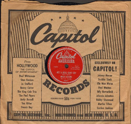 Lutcher, Nellie - He's A Real Gone Guy/Let Me Love You Tonight (10 inch 78 rpm record with Capitol company sleeve) - EX8/ - 78 rpm
