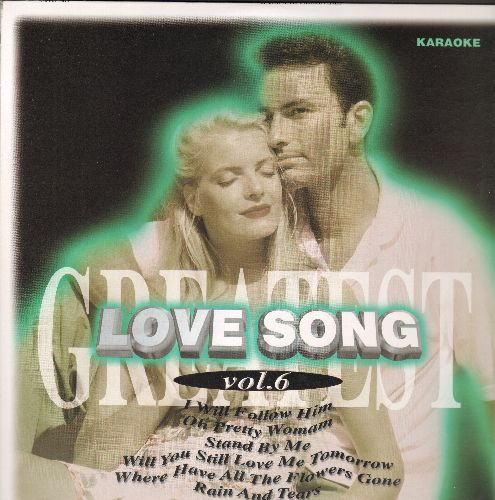 Laser Disc Love Song Vol. 6 - LASER DISC KARAOKE Love Song Vol. 6, 28 Tracks with Vintage Rock & Roll Love Ballads: I Will Follow Him, Rose Garden, My Girl, Diana, Stand By Me, Pretty Woman, MORE! (This is a LASER DISC, not any other media!) - NM9/NM9 - L