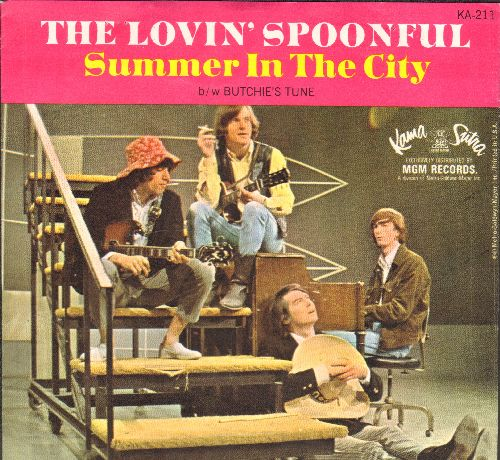 Lovin' Spoonful - Summer In The City/Butchie's Theme (with picture sleeve) - EX8/EX8 - 45 rpm Records