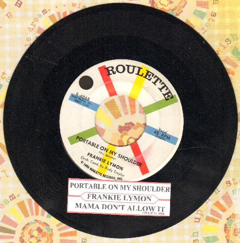 Lymon, Frankie - Portable On My Shoulder/Mama Don't Allow It (with juke box label) - NM9/ - 45 rpm Records