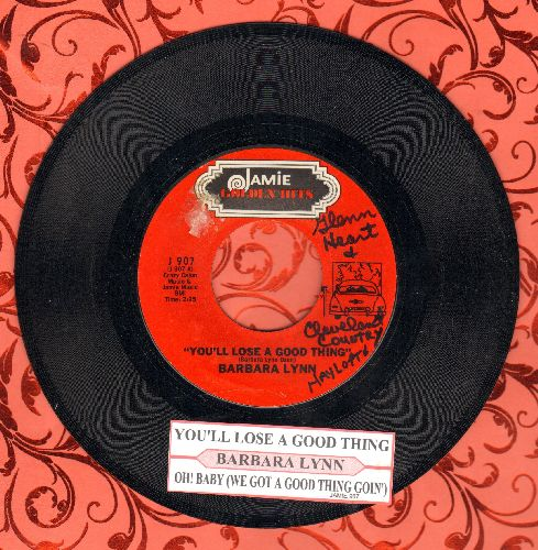 Lynn, Barbara - You'll Lose A Good Thing/Oh! Baby (We Got A Good Thing Goin') (double-hit re-issue with juke box label) - NM9/ - 45 rpm Records