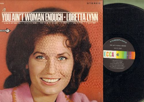 Lynn, Loretta - You Ain't Woman Enough: These Boots Are Made For Walkin', Talking To The Wall, Put It Off Until Tomorrow (vinyl STEREO LP record, small punch hole upper left cover) - NM9/EX8 - LP Records