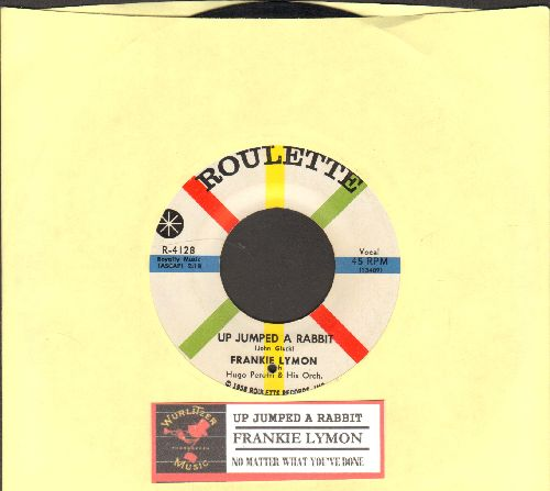 Lymon, Frankie - Up Jumped A Rabbit/No Matter What You've Done (bb) - EX8/ - 45 rpm Records