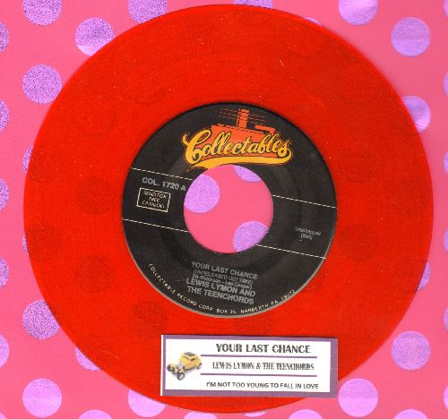 Lymon, Lewis & The Teenchords - Your Last Chance/I'm Not Too Young To Fall In Love (double-hit RED VINYL re-issue with juke box label) - M10/ - 45 rpm Records
