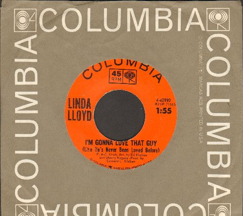 Lloyd, Linda - A Cock-Eyed Optimist/I'm Gonna Love That Guy (Like He's Never Been Loved Before) (with Columbia company sleeve) - EX8/ - 45 rpm Records