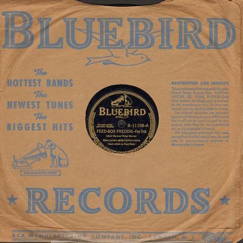 Lyman, Abe & His Californians - Feed-Box Freddie (vocals by Rose Blane)/Dawn-Waltz (vocals by Eddie Holly) (10 inch 78 rpm record with Bluebird company sleeve) - EX8/ - 78 rpm