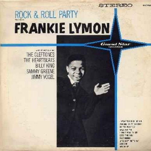 Lymon, Frankie, Cleftones, Heartbeats, others - Rock & Roll Party Starring Frankie Lymon: I Want You To Be My Girl, I Don't Want To Cry, Little Bitty Pretty One, Crazy For You, Mission Bell (Vinyl STEREO LP record) - VG7/VG6 - LP Records