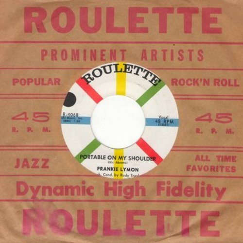 Lymon, Frankie - Portable On My Shoulder/Mama Don't Allow It (with Roulette company sleeve) - NM9/ - 45 rpm Records