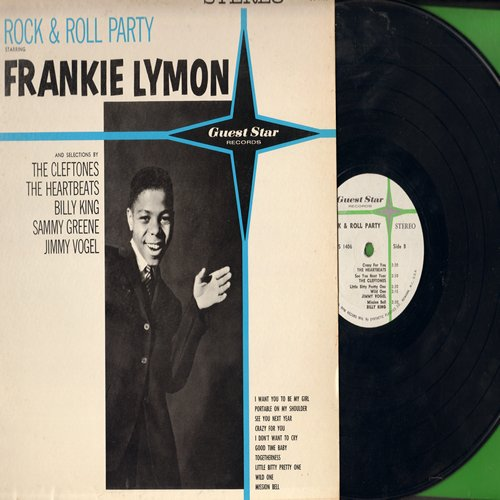 Lymon, Frankie, Cleftones, Heartbeats, others - Rock & Roll Party Starring Frankie Lymon: I Want You To Be My Girl, I Don't Want To Cry, Little Bitty Pretty One, Crazy For You, Mission Bell (Vinyl STEREO LP record) - NM9/EX8 - LP Records