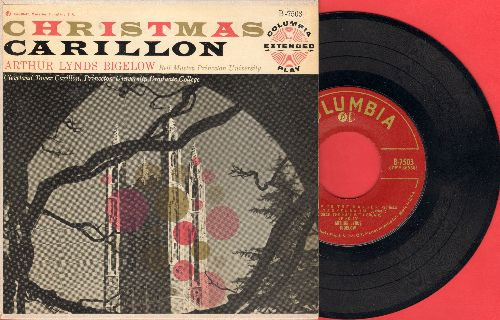 Bigelow, Arthur Lynds - Christmas Carillon - Medley of Classic Christmas Tunes presented by the Bell Master of Princeton University. (7 inch vinyl EP record with picture cover) - EX8/EX8 - 45 rpm Records