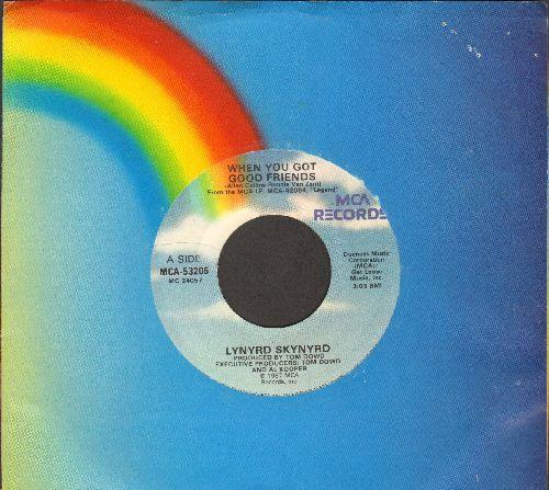 Lynyrd Skynyrd - When You Got Good Friends/Truck Drivin' Man (with MCA company sleeve) - EX8/ - 45 rpm Records