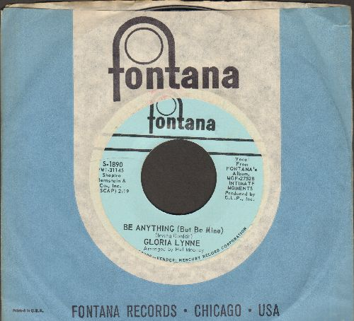 Lynne, Gloria - Be Anything (But Be Mine)/Soul Serenade (MINT condition with Fontana company sleeve) - M10/ - 45 rpm Records