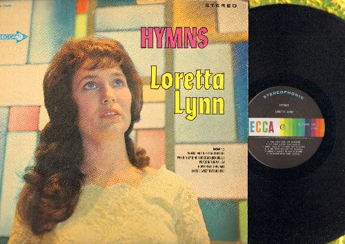 Lynn, Loretta - Hymns: Peace In The Valley, How Great Thou Art, Where No One Stands Alone (Vinyl STEREO LP record) - NM9/VG7 - LP Records