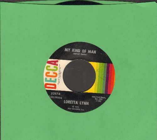 Lynn, Loretta - My Kind Of Man/Here I Am Again - EX8/ - 45 rpm Records