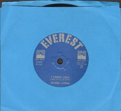 Lynne, Gloria - I Know Love/The Humming Blues (RARE 7 inch 33rpm record, small spindle hole) - EX8/ - 45 rpm Records