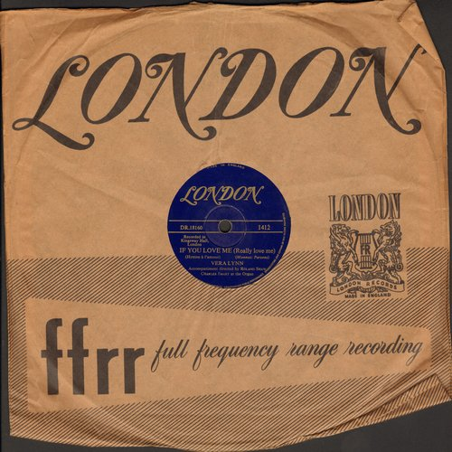 Lynn, Vera - If You Love Me (Really Love Me)/C'est La Vie (10 inch 78 rpm record with London company sleeve) - VG7/ - 78 rpm