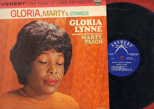 Lynne, Gloria - Gloria, Marty & Strings: Serenade In Blue, The Night Has A Thousand Eyes, I Wish You Love (Vinyl MONO LP record) - EX8/EX8 - LP Records