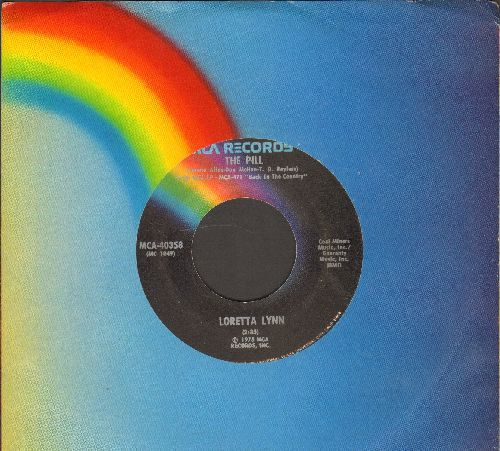 Lynn, Loretta - The Pill/Will You Be There (with MCA company sleeve) - VG7/ - 45 rpm Records