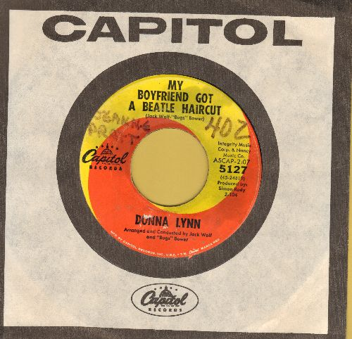 Lynn, Donna - My Boyfriend Got A Beatle Haircut/That Winter Weekend (with Capitol company sleeve) (wol) - EX8/ - 45 rpm Records