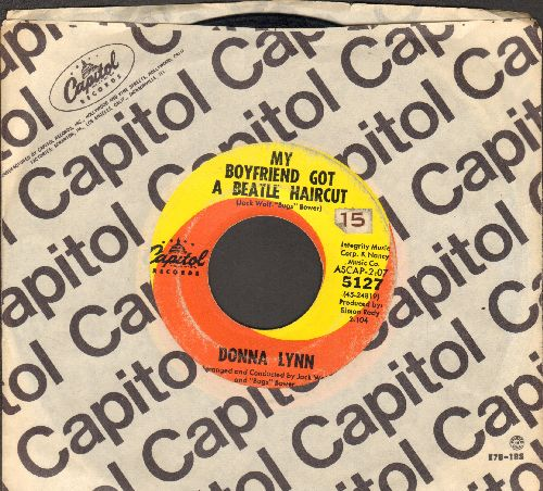 Lynn, Donna - My Boyfriend Got A Beatle Haircut/That Winter Weekend (with Capitol company sleeve) (wol) - VG6/ - 45 rpm Records