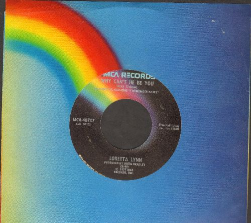 Lynn, Loretta - Why Can't He Be You/I Keep On Putting On (with MCA company sleeve) - EX8/ - 45 rpm Records