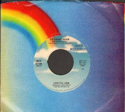 Lynn, Loretta - Pregnant Again/You're A Cross I Can't Bear (with MCA company sleeve) - EX8/ - 45 rpm Records