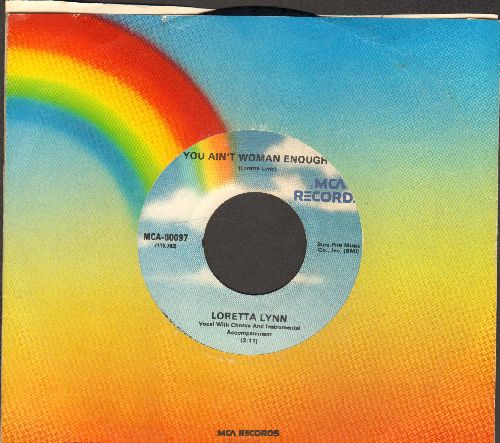 Lynn, Loretta - You Ain't Woman Enough/The Other Woman (with MCA company sleeve) - EX8/ - 45 rpm Records