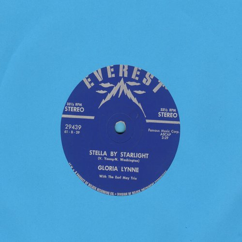 Lynne, Gloria - Stella By Starlight/All Night Long (RARE 7 inch 33rpm STEREO Single with small spindle hole) - NM9/ - 45 rpm Records