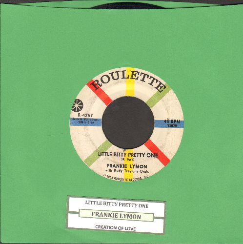 Lymon, Frankie - Little Bitty Pretty One/Creation Of Love (with juke box label) - EX8/ - 45 rpm Records