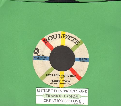 Lymon, Frankie - Little Bitty Pretty One/Creation Of Love (with juke box label) - VG7/ - 45 rpm Records