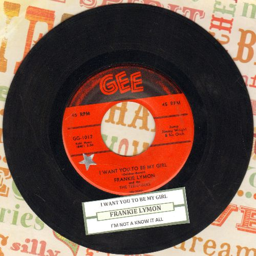 Lymon, Frankie & The Teenagers - I Want You To Be My Girl/I'm Not A Know It All (red label first issue)(ssol) - EX8/ - 45 rpm Records