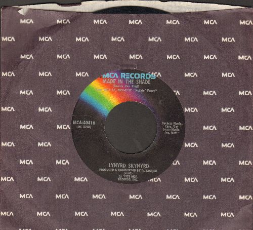 Lynyrd Skynyrd - Made In The Shade/Saturday Night Special (with MCA company sleeve) - EX8/ - 45 rpm Records