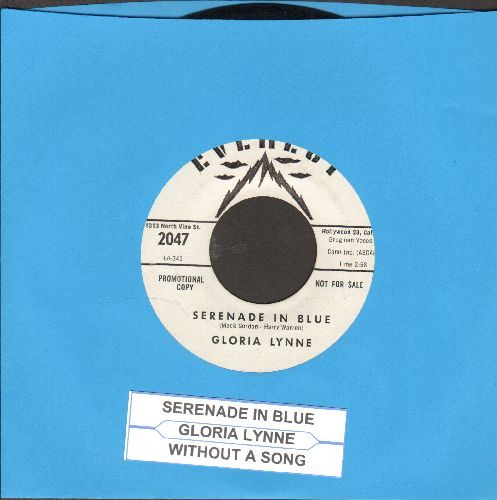 Lynne, Gloria - Serenade In Blue/Without A Song (with juke box label) - EX8/ - 45 rpm Records