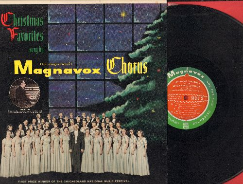 Magnavox Chorus - Christmas Favorites: Joy To The World, O' Come All Ye Faithful, The First Noel, Carol Of The Bells (vinyl MONO LP record, 1956 PROMO pressing) - NM9/EX8 - LP Records