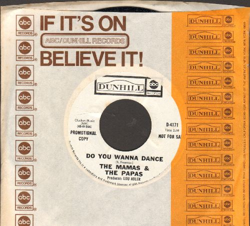 Mamas & Papas - Do You Wanna Dance/My Guy (DJ advance pressing with company sleeve) - NM9/ - 45 rpm Records