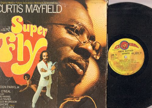 Mayfield, Curtis - Super Fly - Original Motion Picture Soundtrack (vinyl STEREO LP record, gate-fold cover) - EX8/VG7 - LP Records