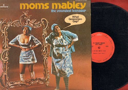 Moms Mabley - Moms Mabley - The Youngest Teenager (vinyl STEREO LP record of Classic Comedy Routines) - EX8/NM9 - LP Records