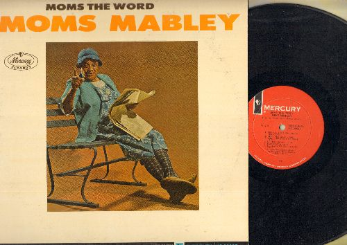 Mabley, Moms - Moms The Word - The Stand-Up Pioneer delivers some of her most famous routines before a Live audience (vinyl MONO LP record) - NM9/EX8 - LP Records