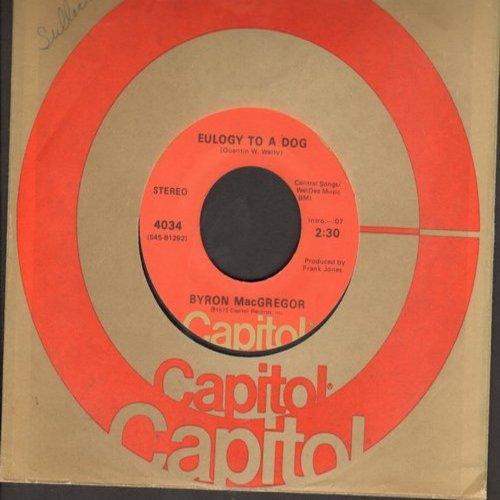 MacGregor, Byron - Eulogy To A Dog/Thank You America (ultra-sentimental spoken words novelties) - NM9/ - 45 rpm Records