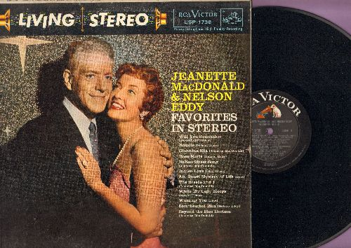 MacDonald, Jeanette & Nelson Eddy - Favorites In Hi-Fi: Indian Love Call, The Breeze And I, Ah Sweet Mystery Of Life, Beyond The Blue Horizon (Vinyl STEREO LP record) - EX8/EX8 - LP Records