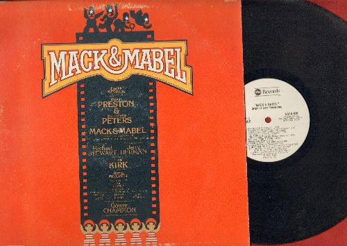 Preston, Robert, Bernadette Peters, Original Cast - Mack & Mabel - Original Broadway Cast Recording (Vinyl STEREO LP record, DJ advance pressing) - NM9/VG7 - LP Records
