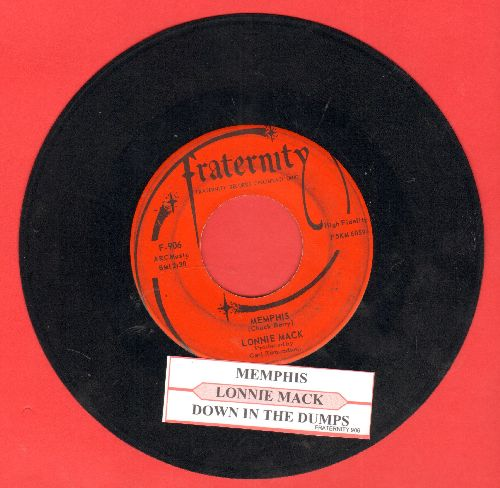 Mack, Lonnie - Memphis/Down In The Dumps (with juke box label) - EX8/ - 45 rpm Records