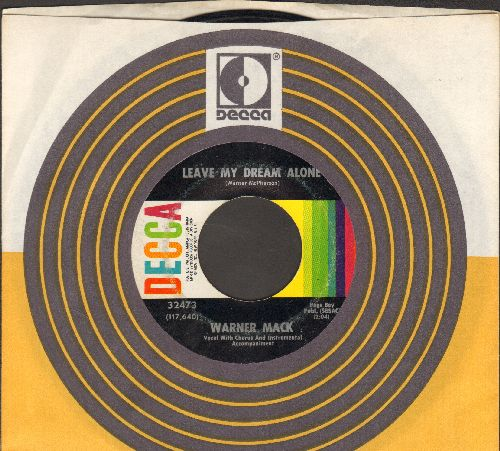 Mack, Warner - Leave My Dream Alone/You're Always Turnin' Up Again (with vintage Decca company sleeve) - EX8/ - 45 rpm Records