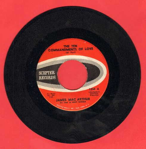 MacArthur, James - The Ten Commandments Of Love/Padre (Co-Star of TV Series Hawaii Five-O) - VG7/ - 45 rpm Records
