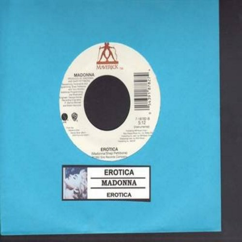 Madonna - Erotica/Erotica (Instrumental) (with juke box label) - M10/ - 45 rpm Records