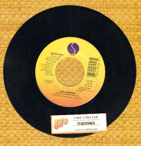 Madonna - Like A Prayer/Act Of Confusion (with juke box label) - EX8/ - 45 rpm Records