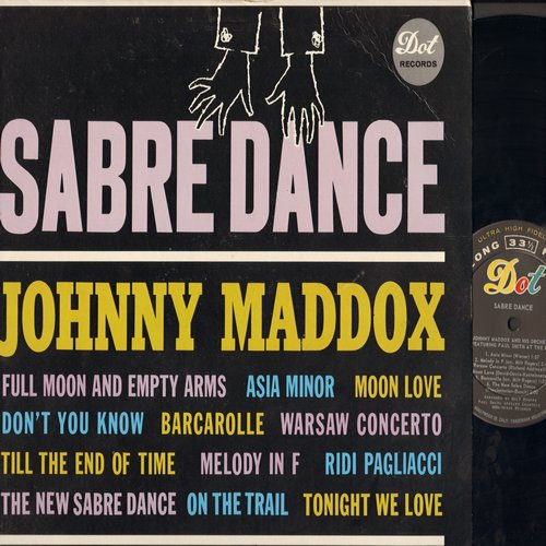 Maddox, Johnny - Sabre Dance: Asia Minor, Don't You Know, Barcarolle, Till The End Of Time (Vinyl MONO LP record) - M10/EX8 - LP Records