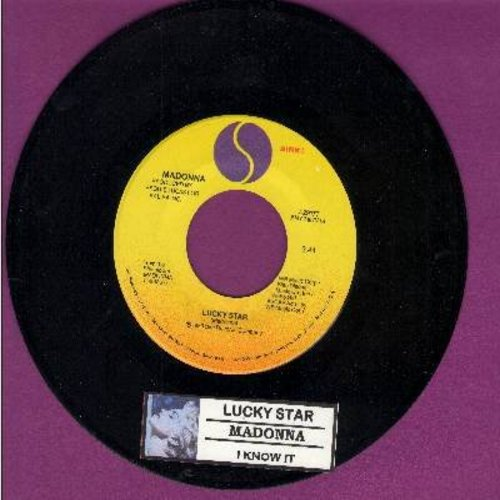 Madonna - Lucky Star/I Know It (with juke box label) - EX8/ - 45 rpm Records