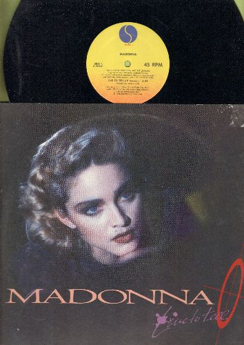 Madonna - Live To Tell - 12 inch 45rpm Vinyl Maxi Single featuring 3 Extended Dance Club Tracks (with picture cover) - NM9/EX8 - Maxi Singles